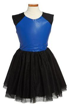 Miss Behave 'Talia' Tulle Skirt Skater Dress (Big Girls) available at #Nordstrom