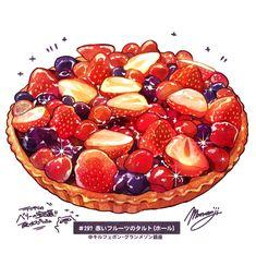 Cute Food Art, Love Food, Food Design, Desserts Drawing, Dessert Illustration, Cute Food Drawings, Food Sketch, Food Cartoon, Watercolor Food