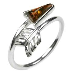 Honey Amber and Sterling Silver Arrow Ring Sizes 56789101112 >>> More info could be found at the image url.(This is an Amazon affiliate link and I receive a commission for the sales)