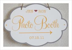 free Custom Photobooth Sign