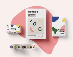 branding | ice cream 'scoup' Cosmetic Packaging, Beauty Packaging, Brand Packaging, Product Packaging, Packaging Ideas, Ice Cream Brands, Packaging Design Inspiration, Coloring For Kids, Food Design