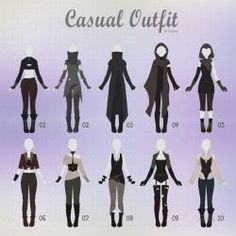 Anime outfits, cool outfits, casual outfits, drawing reference, drawing tip Fashion Design Drawings, Fashion Sketches, Anime Outfits, Character Design Inspiration, Mode Inspiration, Outfits Casual, Cool Outfits, Drawing Anime Clothes, Clothing Sketches