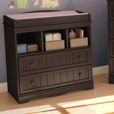South Shore Andover Changing Table in Espresso - 3519330