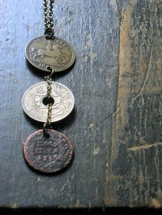 The Ferryman. Antique Coin Necklace. by cloven on Etsy