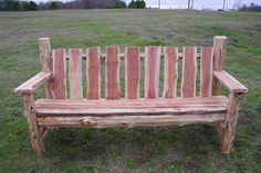 This 6 ft. long Red Heart Cedar Bench is a one-of-a-king outdoor masterpiece! Made from split Cedar logs, it is sturdy and durable. Built for beauty and built to last, this bench not only adds seating space to your outdoor hangout, but it will be the envy of all your friends