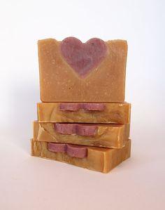 Valentines Day Soap Cinnamon Soap All Natural Soap -- SO cute!