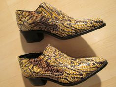 Vintage Leather Ankle Boots 7.5 Croc Snake Reptile by BohemianSeed, $69.00