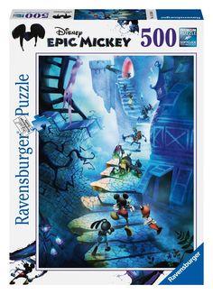 Ravensburger Puzzle - Disney Epic Mickey: Staircase (500Pcs) (14240)  Manufacturer: Ravensburger Enarxis Code: 016086 #toys #puzzle #Ravensburger #Disney #Mickey