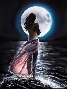Beautiful Fantasy Art, Beautiful Moon, Angel Drawing, Native American Wisdom, Moon Photos, Adult Coloring Book Pages, Moon Goddess, Moon Art, Female Art