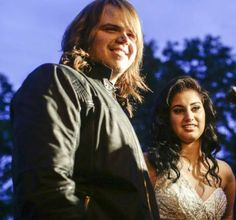 They really went to prom together! Caleb Johnson and Jena Irene talk about their 'American Idol' experiences before her North Farmington High School prom State Of Michigan, Detroit Michigan, Caleb Johnson, Past Present Future, Jena, American Idol, High School, Bomber Jacket, Prom