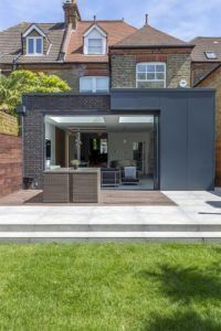 #Modernextension by Architecture WK which used slim framed sliding #pocketdoors to open the entire patio opening.