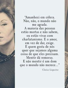 Clarice Lispector Postive Quotes, English Reading, Book Writer, More Than Words, Beauty Quotes, Bergen, Sentences, Inspirational Quotes, Wisdom