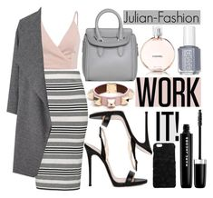 """""""Work It"""" by fattie-zara ❤ liked on Polyvore featuring Givenchy, Topshop, Miss Selfridge, Giuseppe Zanotti, Dolce&Gabbana, Alexander McQueen, Marc Jacobs, Chanel, Essie and Julian"""