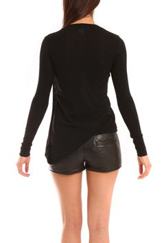 Wayne Twist Back L/S Top in Black