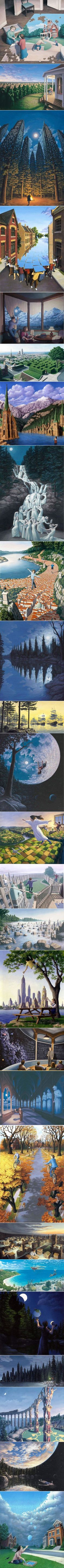 """Surreal paintings """"Imagine A World"""" by Rob Gonsalves"""