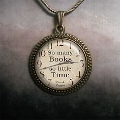 So Many Books, So Little Time pendant, book pendant, book lovers jewelry, teachers gift on Etsy, $12.50