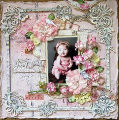 """layout """"Just Adorable"""" using the may kit and all add ons."""