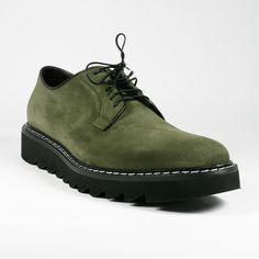 Cesare Paciotti Men Shoes Camoscio Bottiglia Green Oxfords (CPM2232)
