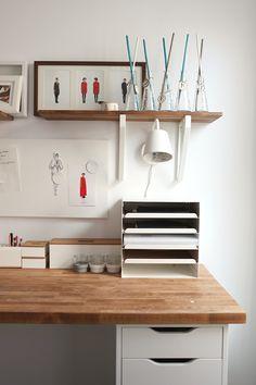 Desk from ikea countertop