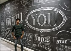 Amazing hand done type by Toronto artist Rajiv Surendra.