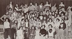 """Some high school drama clubs have more talent that others. The 1977 Chatsworth High """"Thespian Club"""" starred Kevin Spacey (Front row, first from right) and Mare Winningham (back row, fourth from left). Their peers recognized talent when they saw it -- Spacey and Winningham were voted the Senior Superlatives of Best Actor and Actress.    #KevinSpacey #MareWinningham #CelebrityYearbookPhoto #1977 #1970s #ChatsworthHighSchool #Chatsworth #yearboook #DramaClub"""