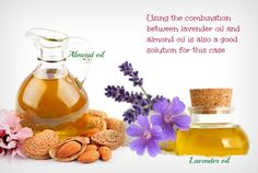 lavender oil with almond oil - home remedies for rosacea