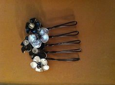 Enamel and Wire Hair Comb