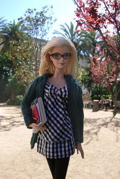 Reading In The Park - I love Barbie in glasses :)