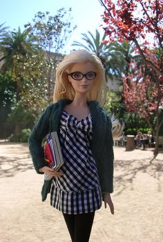 Reading In The Park - I love Barbie in glasses :)
