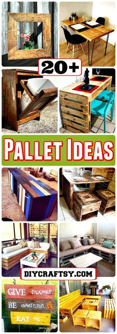 So people have a look at these 20+ DIY pallet ideas that should in your next to do list as they are really fascinating and fun to resist. Pallet Furniture