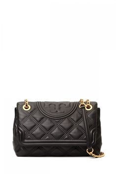 Tory Burch Damen Schultertasche Fleming Soft Convertible Schwarz | SAILERstyle Tory Burch, Trends, Metal Chain, Leather Shoulder Bag, Soft Leather, Convertible, Chanel, Stuff To Buy, Bags