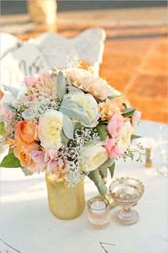 Bouquets used as centerpieces instead of new centerpieices @weddingchicks