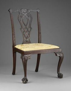 Side chair, 1765-1785.  Unknown maker; Boston. Owned by Moses Gill (a Lt. Gov.)  (1996.52)