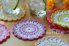 New+Free+Crochet+Patterns | New Pattern – Sweet Crochet Coasters « Pattern « Zoom Yummy