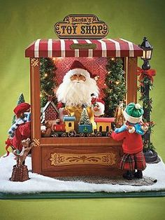 Enchant your guests this Christmas with the Magic of Christmas - Santa's Toy Shop that features a cheerful scene sure to leave smiles on the faces of all your guests.