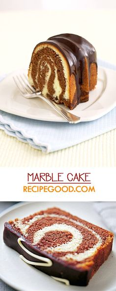 Simple and Moist Marble Cake Recipe - Video