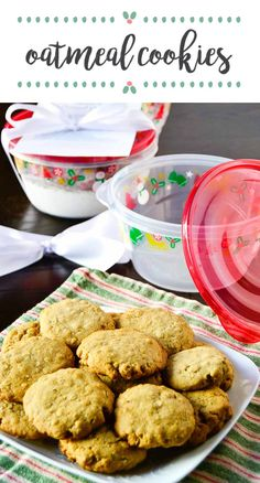If you love the idea of baking for your friends and family this year and want to get your kids in on the fun, look no further than these Oatmeal Cookies. Full of classic holiday flavors yet easy enough for the whole family, this delicious recipe makes a wonderful homemade edible gift idea when stored in Rubbermaid TakeAlongs® and wrapped with a ribbon and a copy of the instructions! Plus, you can find everything you need at Target.