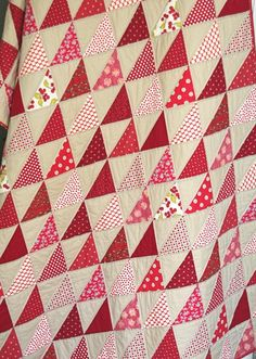 Red Quilt by Cluck Cluck Sew. Makes me think of fall... or Valentine's Day, lol.