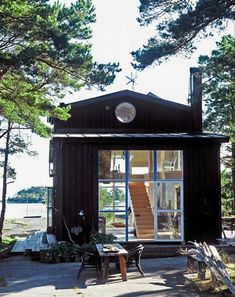 the summer cabin of designer carouschka streijffert, located on a small island in the swedish archipelago, a short boat ride from stockholm.