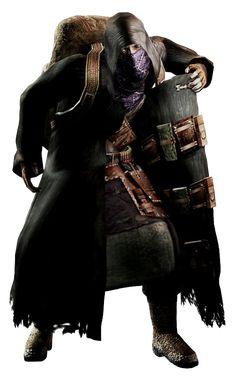 El Buhonero o Mercader, (武器 商人), es un traficante y vendedor de todo tipo de armas en Resident Evil 4, además, el buhonero te permite mejorarlas para que sean más poderosas y veloces. Aparecerá por primera vez alrededor de la casa del valle en la que Bitores Mendez (el alcalde del pueblo) retiene a Leon y Luis Sera. Va con una gabardina negra con capucha, lleva un pañuelo morado que le cubre la mayor parte del rostro y carga una enorme mochila. Lleva armas y munición dentro de la gabardina.