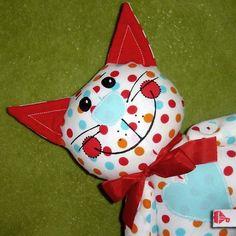 Vilemína - textilní kočička