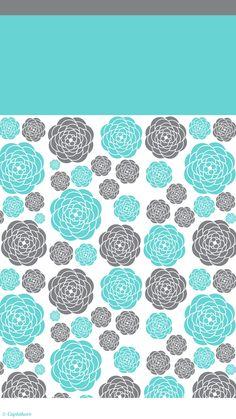 Teal and grey flower garden lockscreen   Cuptakes