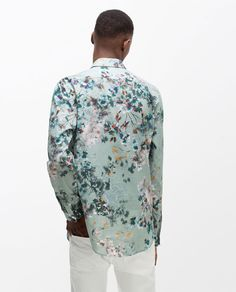 Image 5 of PRINTED FLORAL SHIRT from Zara