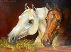 Oil painting on canvas.