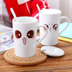 High Quality Eco-friendly Ceramic Mugs Cute Eyes Coffee Mugs Milk Mugs 500ml, JSF-Mugs-002