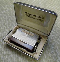 "Vintage Standard Micronic Ruby 8-Transistor Radio, Model SR-H436 Measures 1-5/8 x 2-1/4 x 1"", Made in Japan."