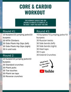 Core & Cardio Workout- a Full Demo!