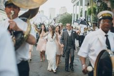New Orleans - second line parade after wedding ceremony | Image by Maile Lani