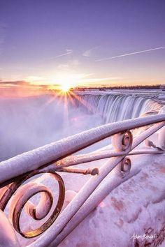 Frozen Sunrise, Niagara Falls