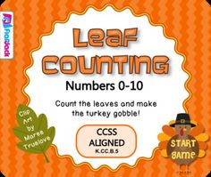 Leaf Counting Smart Board Game - FREE by FlapJack Educational Resources $Free